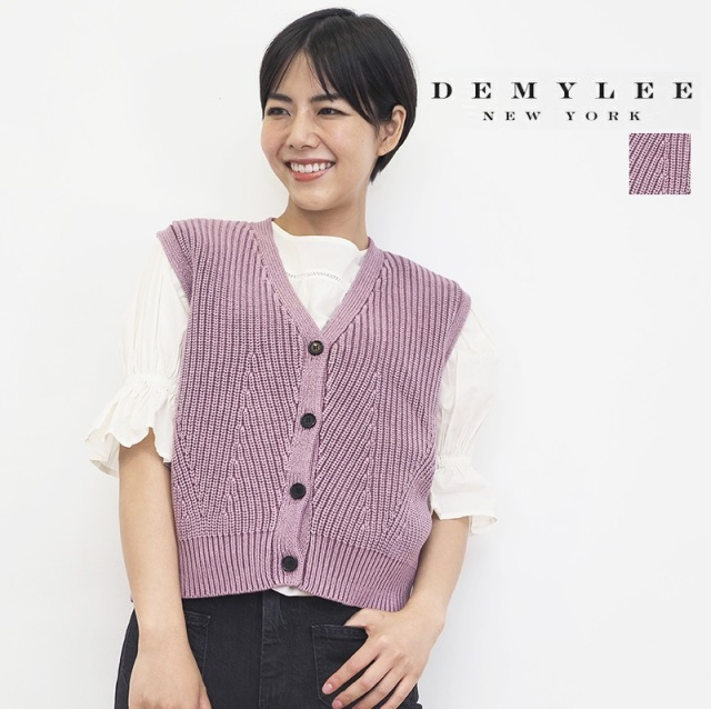 【21AW新作】DEMYLEE デミリー Dorothee Vest コットンニットベスト 3410800031 | トップス 秋冬  21AW
