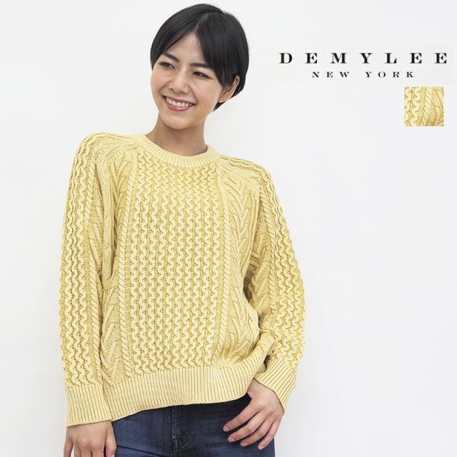 【21AW新作】DEMYLEE デミリー Elsa Sweater コットンリブニットデザイン編みプルオーバー セーター 3410800041 | トップス 秋冬  21AW