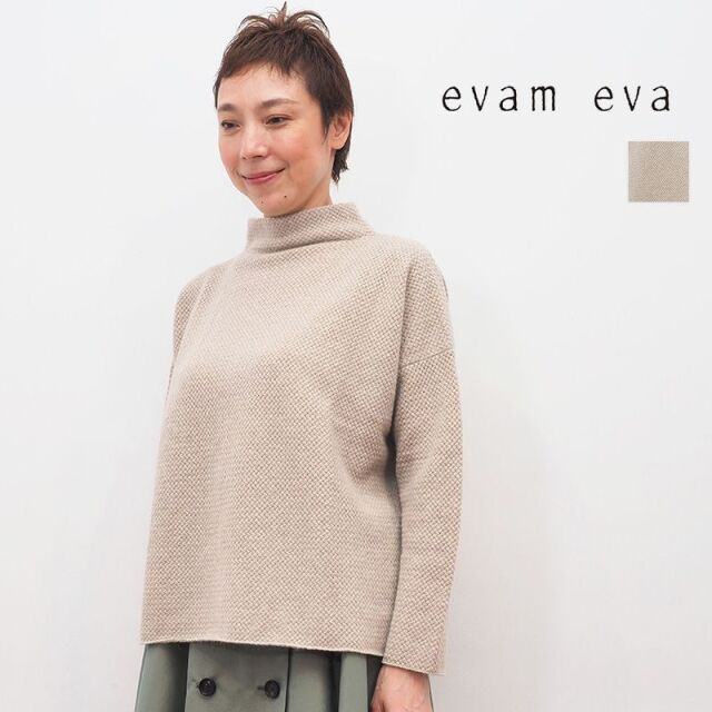 【20AW新作】evam eva エヴァムエヴァ E203K118 ウールアンゴラハイネックプルオーバー wool angora high necked pullover | 20AW トップス 秋冬