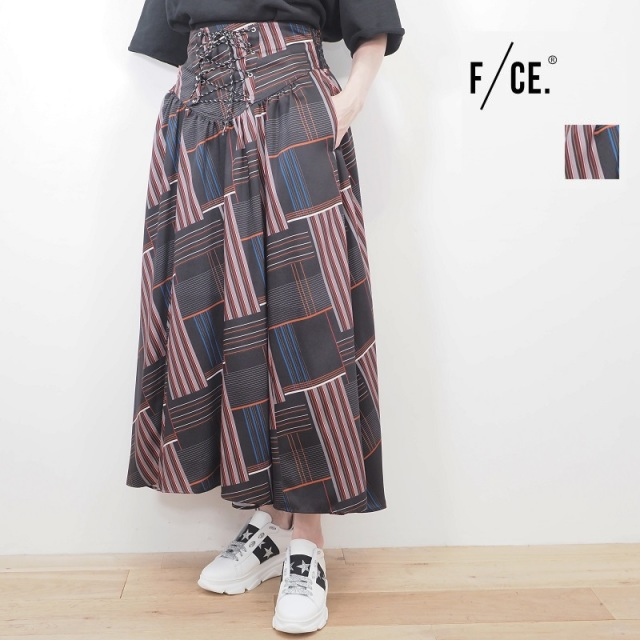 【20SS新作】F/CE. エフシーイー モザイクプリントギャザースカート F2001FCWSK0002 GATHERED SKIRT FCE | 20SS ボトムス 春夏