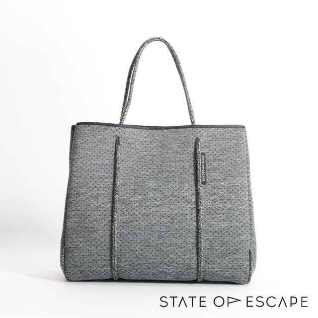 STATE OF ESCAPE ステイトオブエスケープ Flying Solo-Chacoalトートバッグ チャコールグレー|ジムバッグ ママバッグ 17AW/新作/送料無料