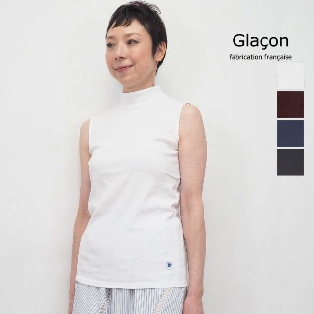 【20SS新作】Glacon グラソン ハイネックノースリーブカットソー G-20SS W15 Mock Neck SLV | 20SS トップス 春夏