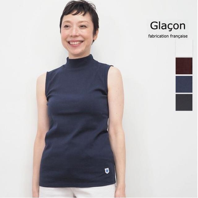 Glacon グラソン ハイネックノースリーブカットソー G-20SS W15 Mock Neck SLV | 20SS トップス 春夏