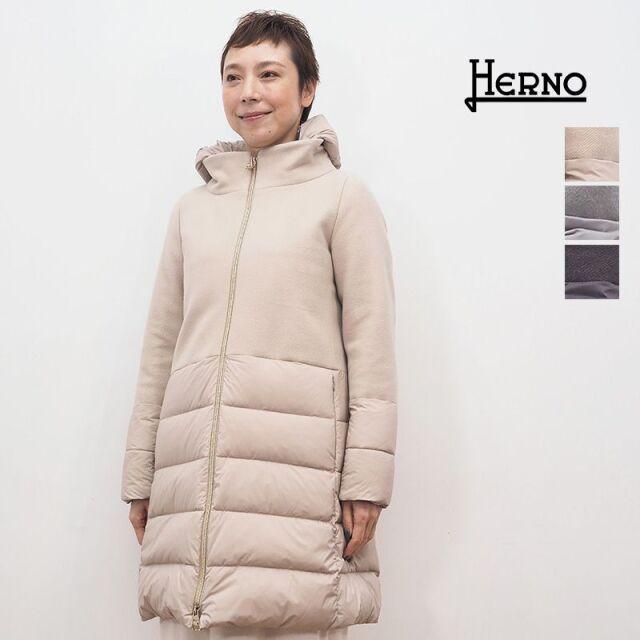 【20AW新作】【正規品】HERNO ヘルノ PI0848D ウール切り替えミドルダウンジャケット ジップ | 20AW アウター 秋冬