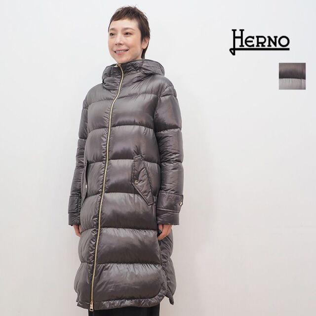 【20AW新作】【正規品】HERNO ヘルノ PI1120D シャイニーナイロンロングダウンジャケット | 20AW アウター 秋冬