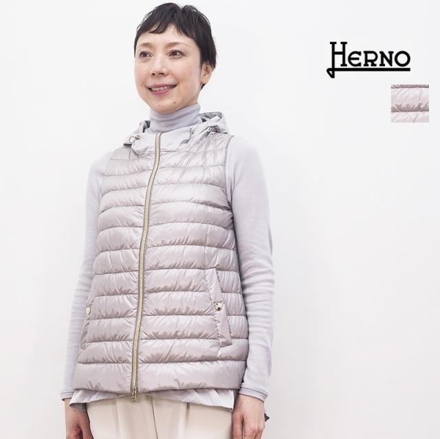 【21SS新作】【正規品】HERNO ヘルノ PI1248D ライトダウンベスト レイヤード インナーダウン | アウター 春夏 21SS