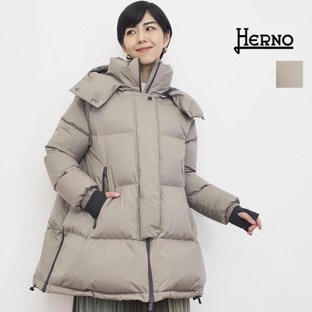 【21AW新作】【正規品】HERNO ヘルノ PI128DL ゴアテックスインフィニウム オーバーサイズラミナーミドルダウンジャケット  GORE-TEX Laminor | アウター 秋冬 21AW