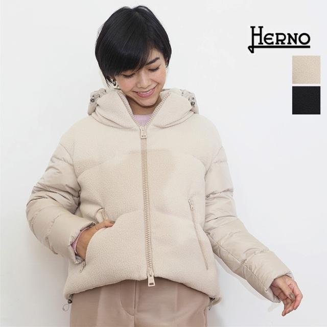 【21AW新作】【正規品】HERNO ヘルノ PI1378D ボアフリースショートダウンジャケット   アウター 秋冬 21AW