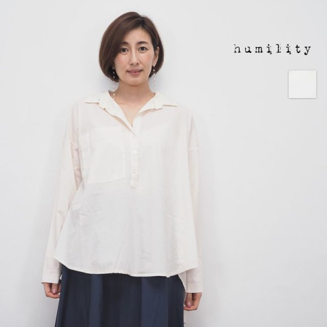 【20SS新作】humility ヒューミリティー  07213620 バックスリット スキッパーシャツ | 20SS トップス 春夏