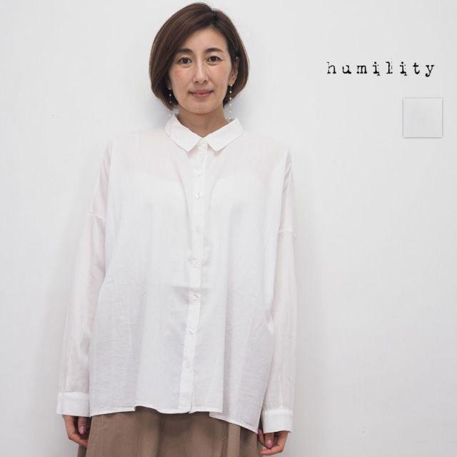 【20SS新作】humility ヒューミリティー  07213770 オーバーサイズコットンシャツ | 20SS トップス 春夏
