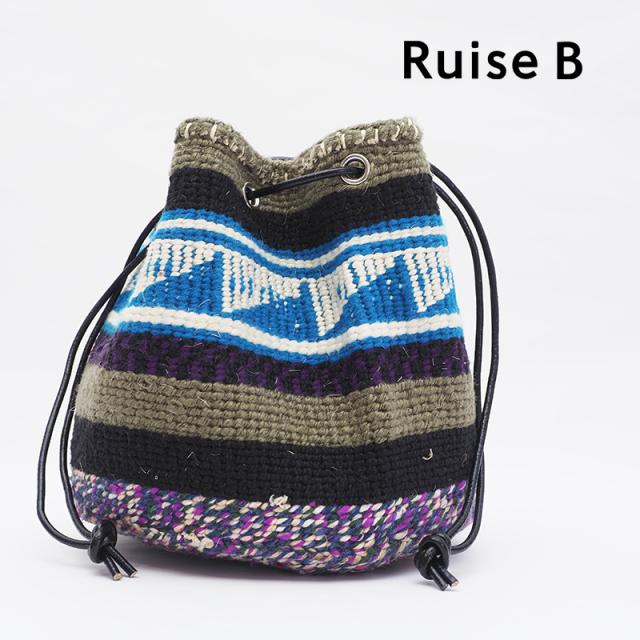 Ruise B ルイズビー ケニア バケツ型巾着ショルダーバッグ KNWO-ASS-NPO B | 21SS バッグ 春夏