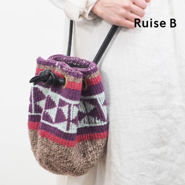 【20SS新作】Ruise B ルイズビー ケニア バケツ型巾着ショルダーバッグ KNWO-ASS-GLOVE S | 20SS バッグ 春夏