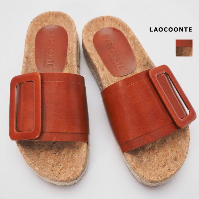 【40%OFF】LAOCOONTE ラオコンテ 0701143014 Megan tuscany レザーフラットサンダル | 20SS シューズ 春夏