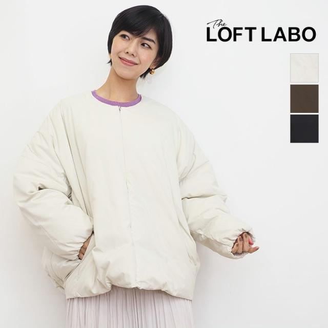 【21AW新作】THE LOFT LABO ザ ロフトラボ TL21FJK55 DAMB ノーカラーダウンジャケット   21AW アウター 秋冬