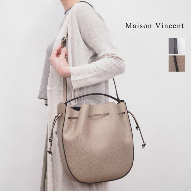 ★【20SS新作】Maison Vincent メゾンヴァンサン 2WAY レザーショルダーバッグ 19820 ruga-dollaro | 20SS バッグ 春夏