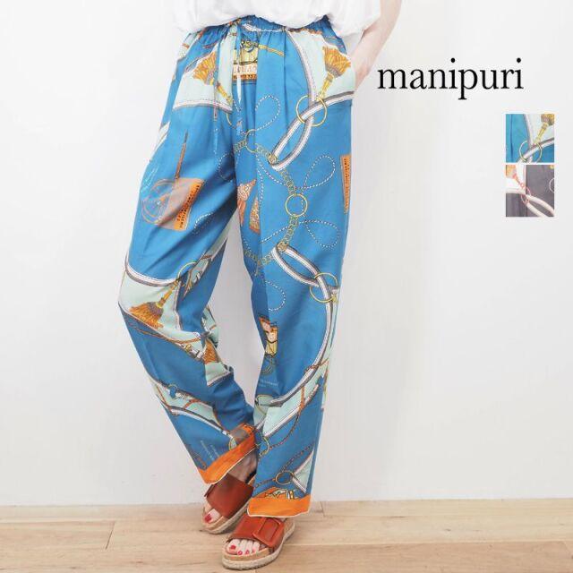 manipuri マニプリ マリン柄イージーワイドパンツ 0101401023 | 20SS ボトムス 春夏