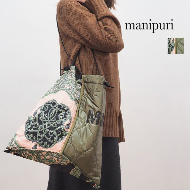 【20AW新作】manipuri マニプリ 0103252104 プリントトートL BeltedTassel ベルトタッセル | 20AW ファッショングッズ 秋冬