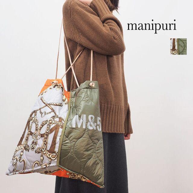 【20AW新作】manipuri マニプリ 0103252105 プリントトートL SADDLE サドル デッドストック ミリタリー | 20AW ファッショングッズ 秋冬