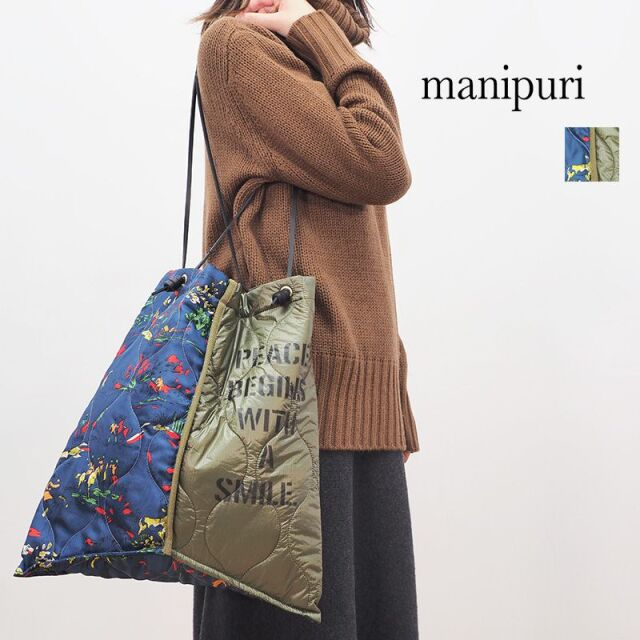 【20AW新作】manipuri マニプリ 0103252106 プリントトートL HORSE 馬 デッドストック ミリタリー | 20AW ファッショングッズ 秋冬