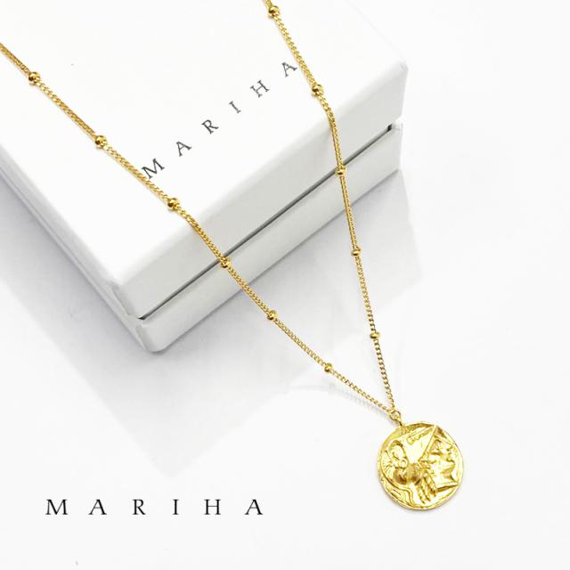 【21AW新作】MARIHA マリハ ネックレス Ancient Memories Athena/Angel アテナ/エンジェル スタッド 47cm 1602211008 シルバー925/18金メッキ | アクセサリー 21AW