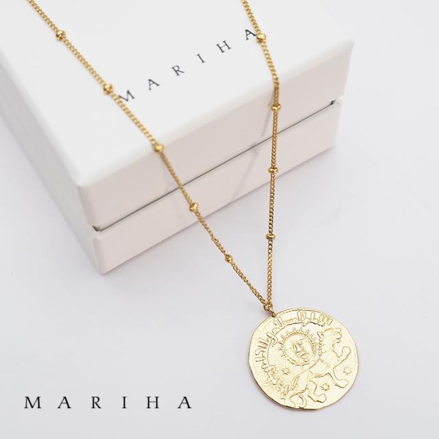 【即納販売開始】MARIHA マリハ ネックレス サンライオン Ancient Memories Sun Lion スタッド 62cm 1602202002 シルバー925/18金メッキ | アクセサリー 春夏 21SS