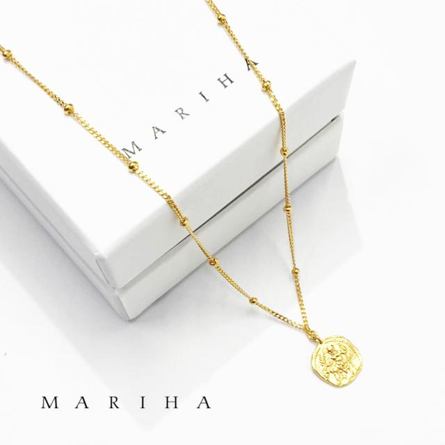 【21AW新作】MARIHA マリハ ネックレス Ancient Memories Zeus/Horse ゼウス/ホース スタッド 47cm 1602211004 シルバー925/18金メッキ | アクセサリー 21AW