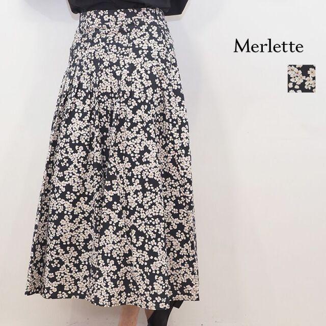 【20AW新作】Merlette マーレット 3210500009 83N36PP フラワープリントフレアスカート ラベンダー 花柄 コットン | 20AW ボトムス 秋冬