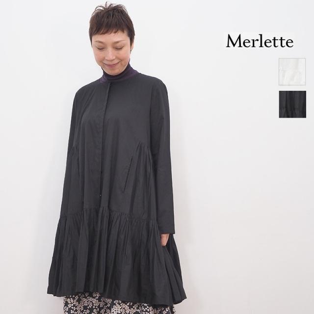【期間限定販売】Merlette マーレット C75N12L MARTEL ピマコットンギャザーチュニックドレス シャツ ブラウス ミニワンピース 9910300026
