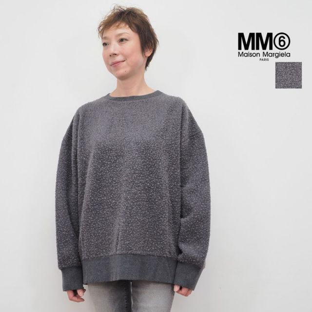 【40%OFF】MM6 エムエムシックス メゾンマルジェラ ネップ加工スウェットプルオーバー Casentino SweatShirt S52GU0050|秋冬 トップス 18AW