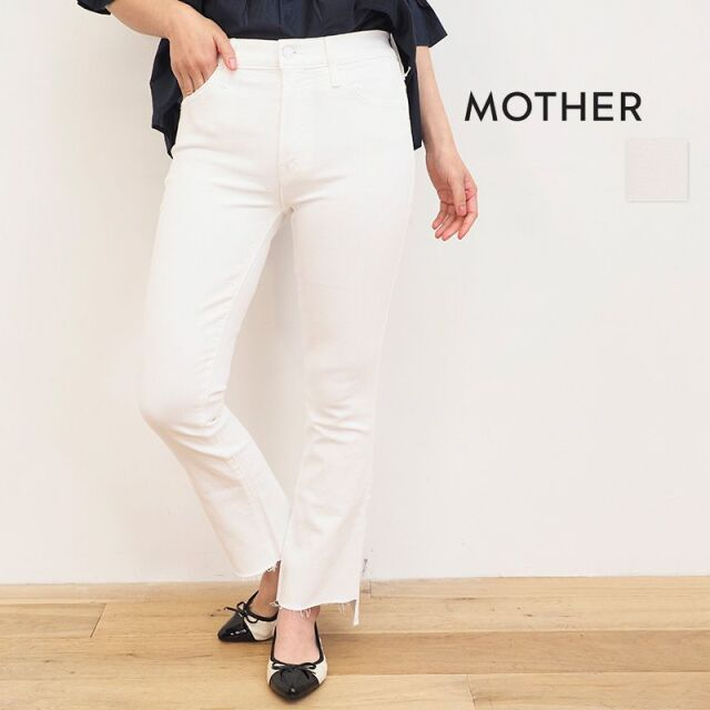 【20SS新作】MOTHER マザー 1157-753 THE INSIDER CROP STEP FRAY カットオフデニムパンツ 10WHITE ホワイト | ボトムス 20SS