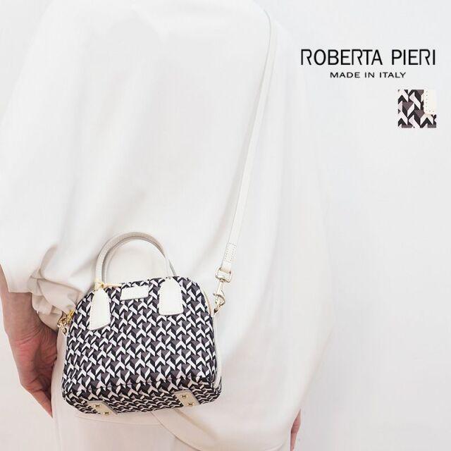 ROBERTAPIERI ロベルタピエリ NEW BUGY2-19 ニューバギー ハンドバッグ ミニトートバッグ ショルダーバッグ ホワイトレザー シュル型 | 定番 バッグ