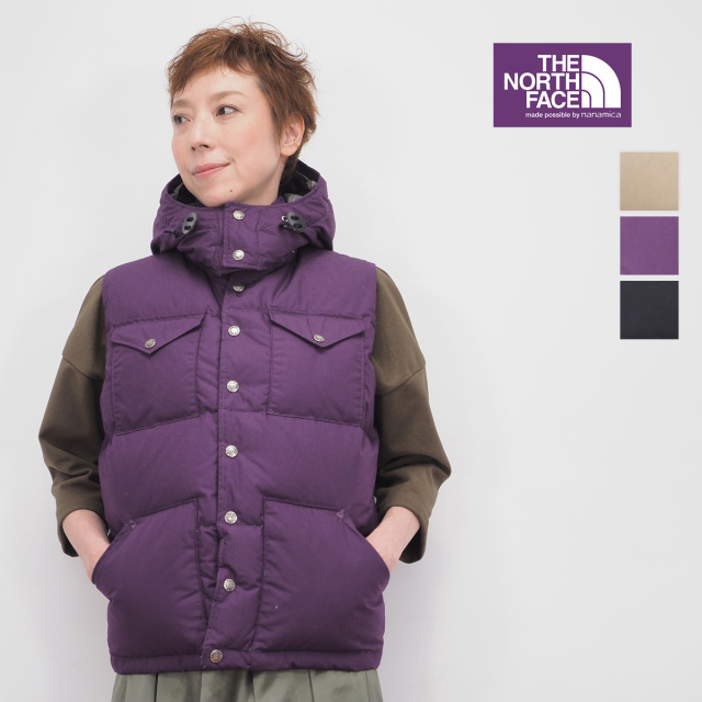 【19AW新作】【正規品】NORTH FACE PURPLE LABEL | ノースフェイス パープルレーベル ND2950N Midweight 65/35 Hooded Sierra Vest ダウンベスト | 秋冬 アウター 19AW
