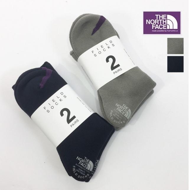 【正規品】THE NORTH FACE PURPLE LABEL ノースフェイス パープルレーベル NN8961N Pack Field Socks 2P ソックス 2足セット | 20AW 靴下