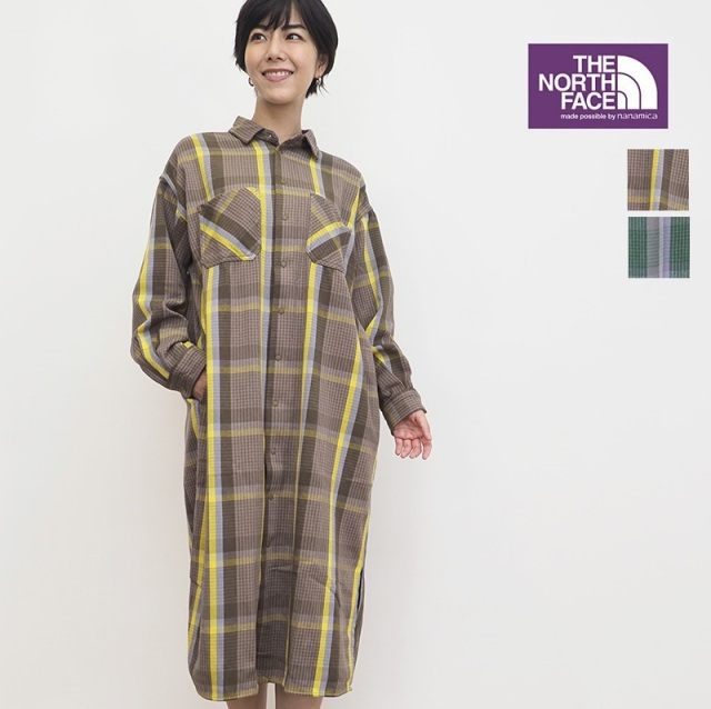 【21AW新作】【正規品】NORTH FACE PURPLE LABEL ノースフェイス パープルレーベル  NTW5153N チェックウェスタンシャツワンピース California Field Dress |  秋冬 21AW