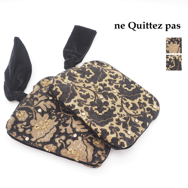 【19AW新作】ne Quittez pas ヌキテパ 012092001 バッグジャカードワンハンドルポーチ バッグ  Jacquard One Handle Pouch | 秋冬 バッグ 19AW