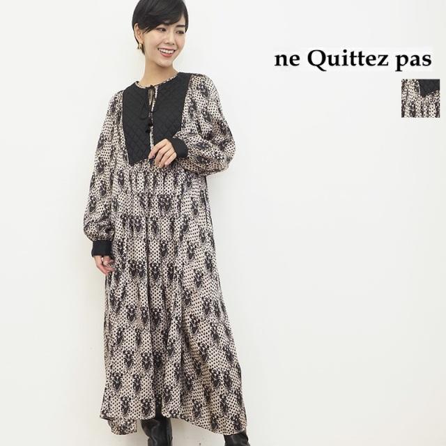 【21AW新作】ne Quittez pas ヌキテパ 010412GK1 モダールサテンドレス | 21AW 秋冬