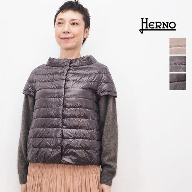【正規品】HERNO ヘルノ PI0110DIC ショートスリーブライトダウンジャケット ICONICO | 秋冬 アウター 20AW
