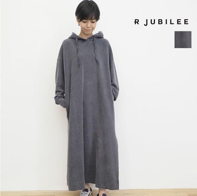 【21AW新作】RJUBILEE アールジュビリー RJ2108 3026 フーディ―パーカーワンピース Hooded Dress | 21AW ワンピース 秋冬