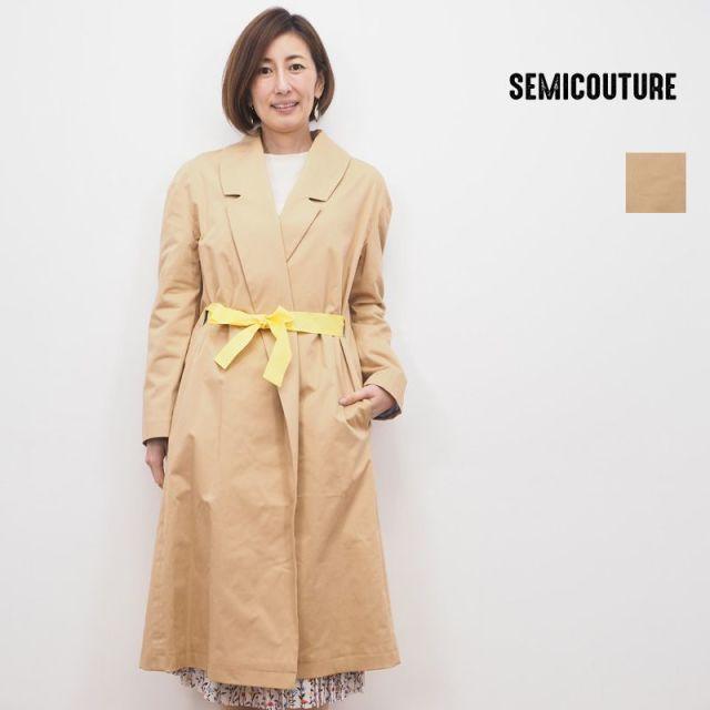 【20SS新作】SEMICOUTURE セミクチュール 09411505 リボントレンチコート | 20SS アウター 春夏