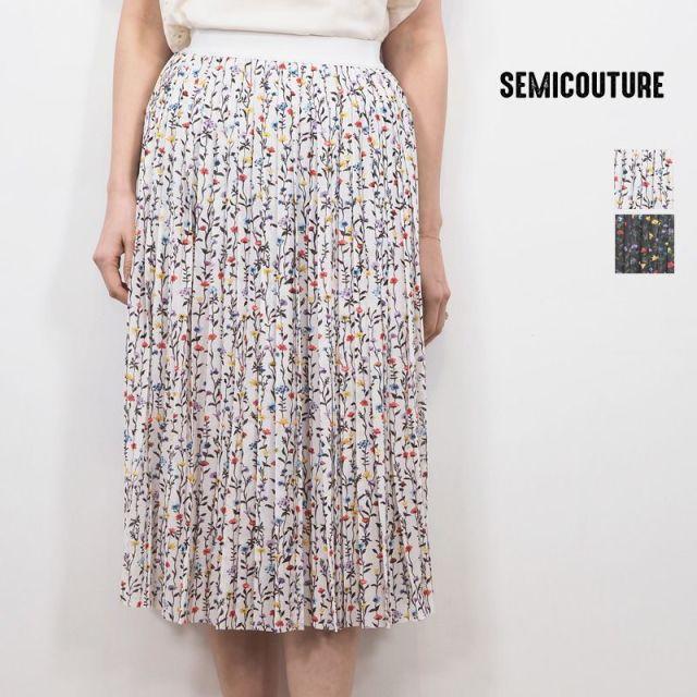 【20SS新作】SEMICOUTURE セミクチュール 09412003 花柄スカート | 20SS ボトムス 春夏