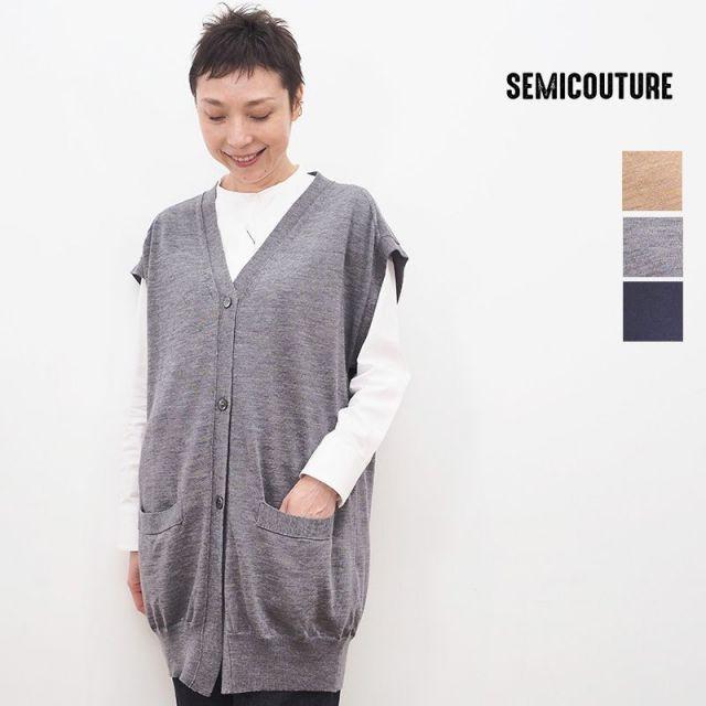 【20AW新作】SEMI COUTURE セミクチュール 09420112 フレンチスリーブニットカーディガン | 20AW トップス 秋冬