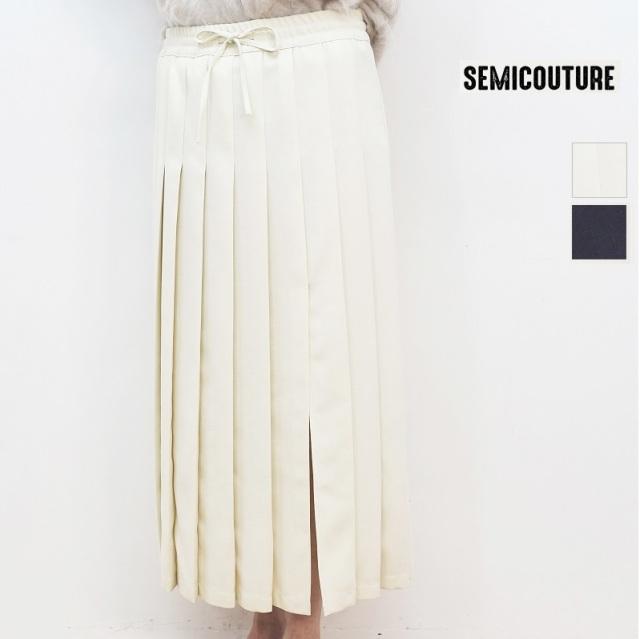 【20AW新作】SEMI COUTURE セミクチュール 0952-0905 ワイドプリーツスリットスカート | 20AW ボトムス  秋冬