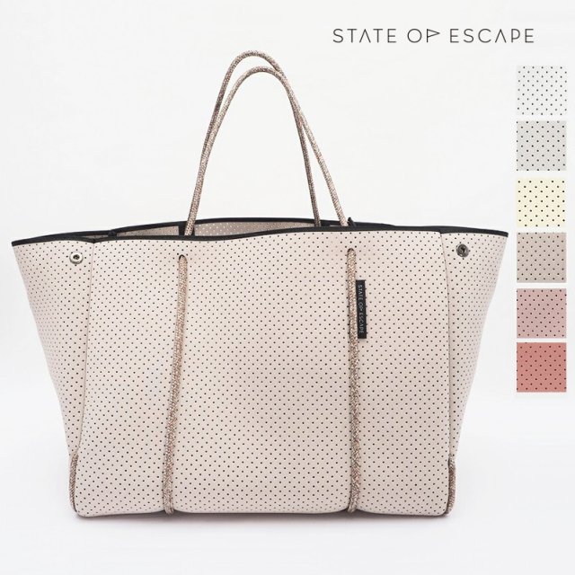 【21AW新作】【正規品】STATE OF ESCAPE ステイトオブエスケープ ESCAPE CARRYALL エスケープキャリーオール トートバッグ ButterMilk,DeepMusk,WHITE,Beige,STONE,HUSK |ビーチバッグ ジムバッグ マザーバッグ
