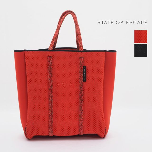 【20SS新作】【正規品】STATE OF ESCAPE ステイトオブエスケープ MAGAZINE TOTE マガジントート トートバッグ レッド ブラック | ジムバッグ マザーバッグ | 20SS