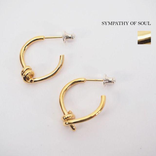SYMPATHY OF SOUL シンパシーオブソウル ピアス ノットデザイン 真鍮 ゴールドメッキ UnitePierce 1903gp|アクセサリー 19SS