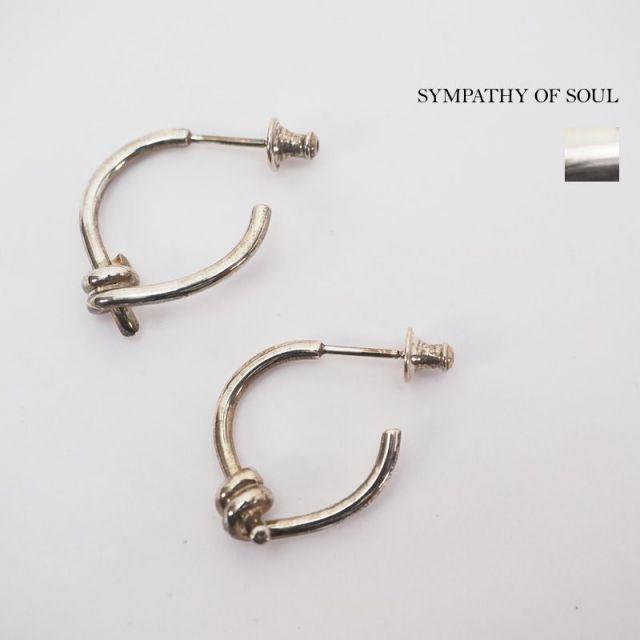 SYMPATHY OF SOUL シンパシーオブソウル ピアス ノットデザイン 真鍮 シルバー UnitePierce 1903s|アクセサリー 19SS