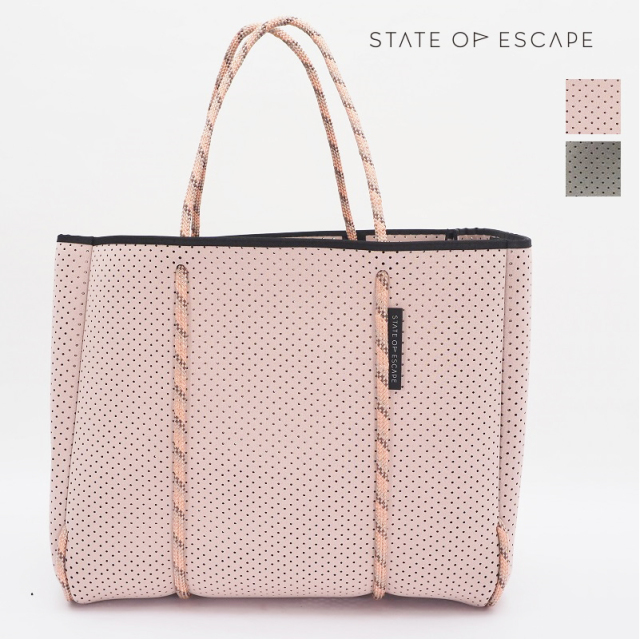 SOLD OUT【21AW新作】【正規品】STATE OF ESCAPE ステイトオブエスケープ Flying Solo フライングソロ トートバッグ セージグリーン/SAGE ブラッシュ/BLUSH |ジムバッグ マザーバッグ ロンハーマン取り扱いブランド