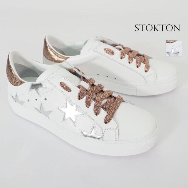 STOKTON ストックトン 352D-20SS メタリックラメ 星柄 ローカットスニーカー| 20SS シューズ 春夏