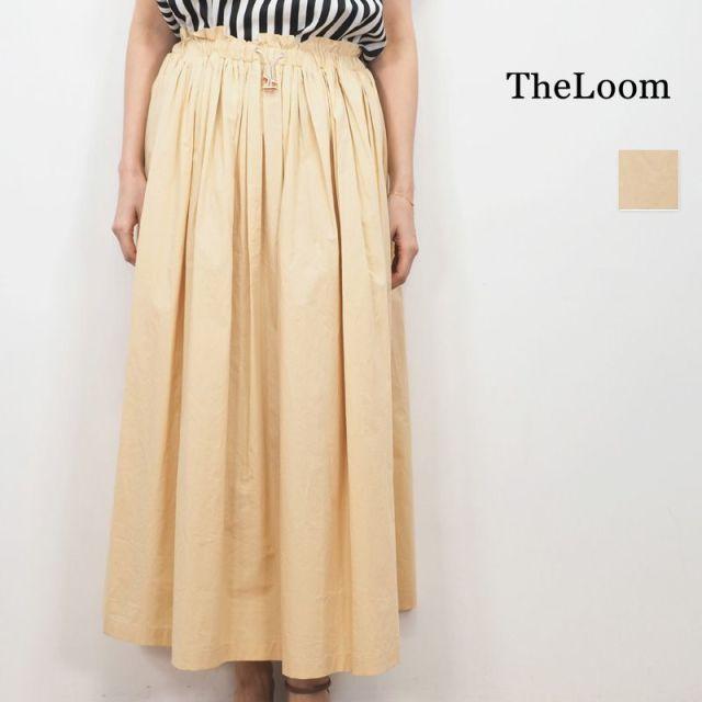 ★【20SS新作】TheLoom ザルーム 0691-1450 コットン シャーリングフレアスカート | 20SS ボトムス 春夏