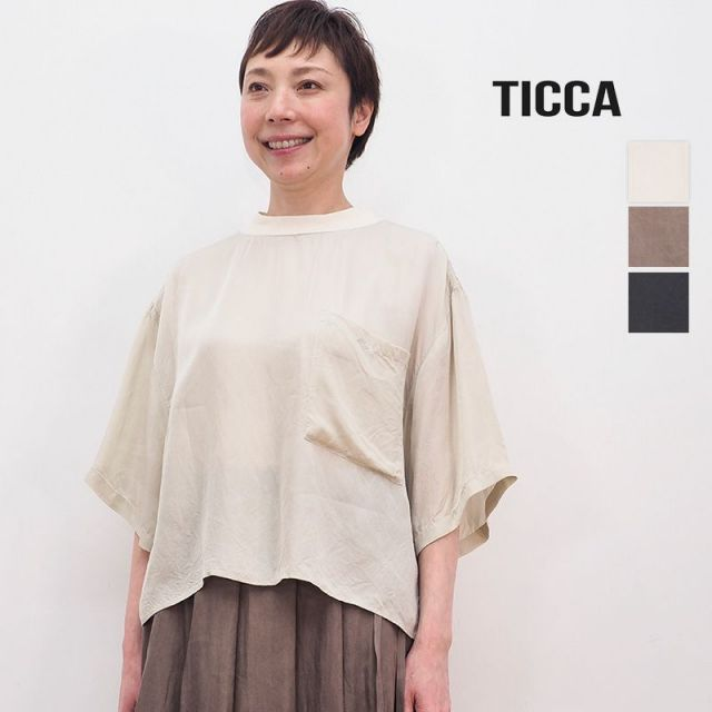 【40%OFF】TICCA ティッカ TBAS-171 フハクTシャツ オーバーサイズカットソー | トップス 春夏 21SS